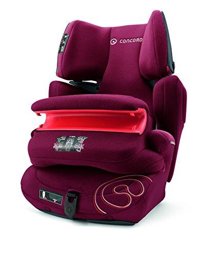 Concord Transformer Pro, Silla de coche grupo 1/2/3 Isofix, rojo (Bordeaux Red)